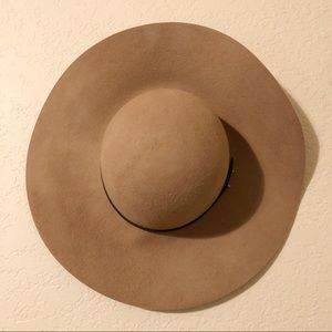 Gently worn floppy hat